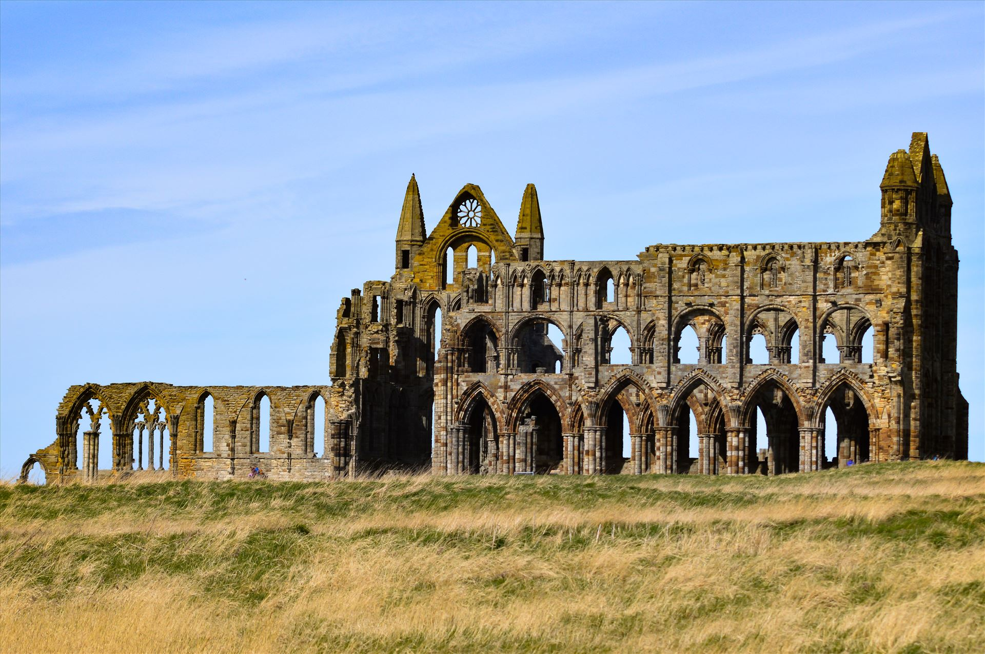 Whitby Abbey - Whitby Abbey on a summers day by AJ Stoves Photography
