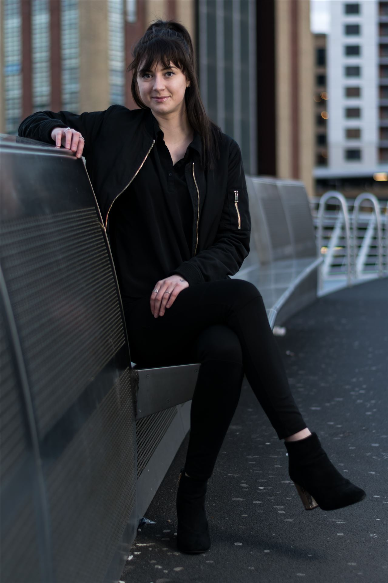 Rachel Louise Adie - Rachel Louise Adie modelling shoot at Newcastle Quayside by AJ Stoves Photography