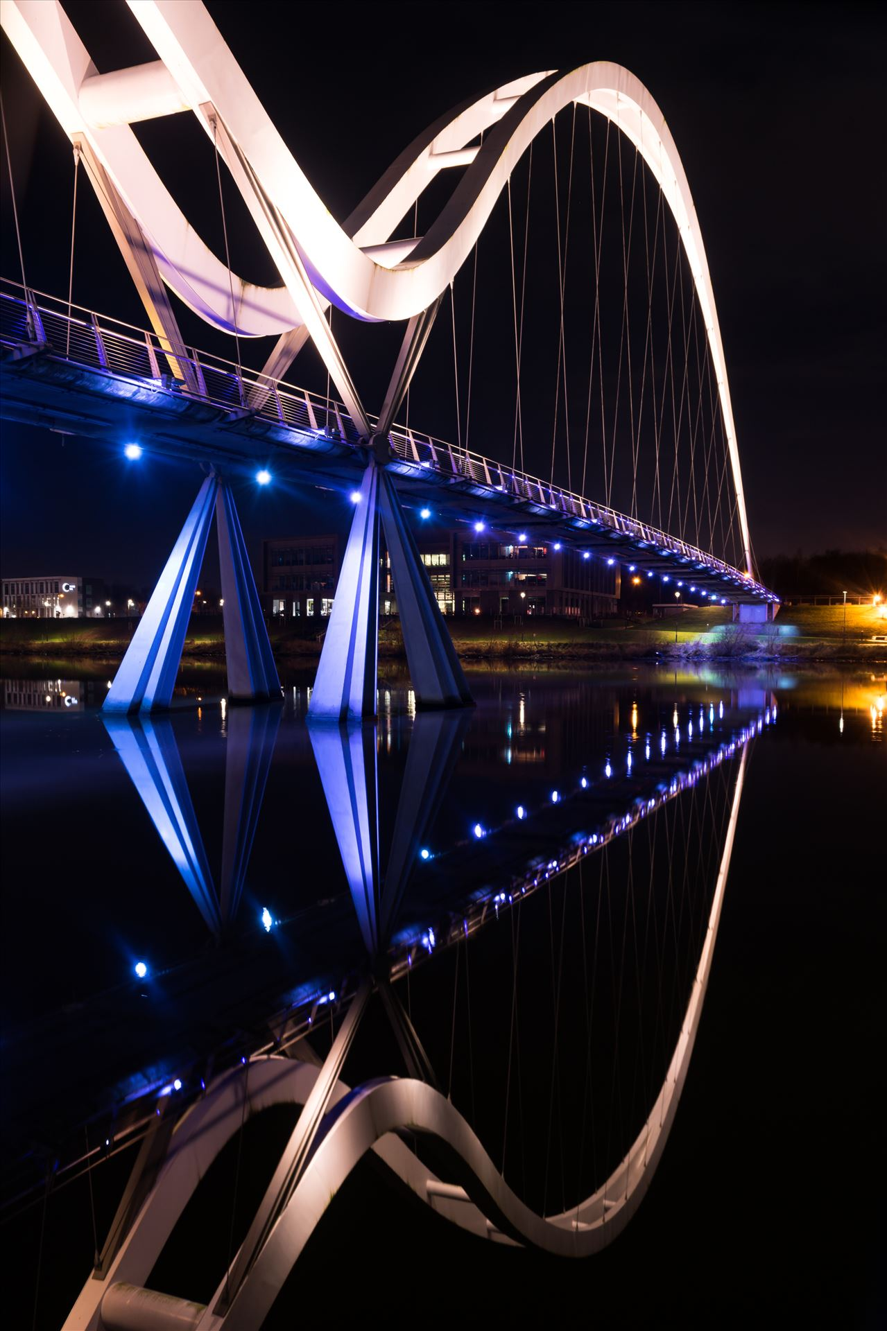 Infinity Bridge Reflection New Years Night - 1st January night out, was so lucky to catch the water so still and flat.... But what a reflection by AJ Stoves Photography