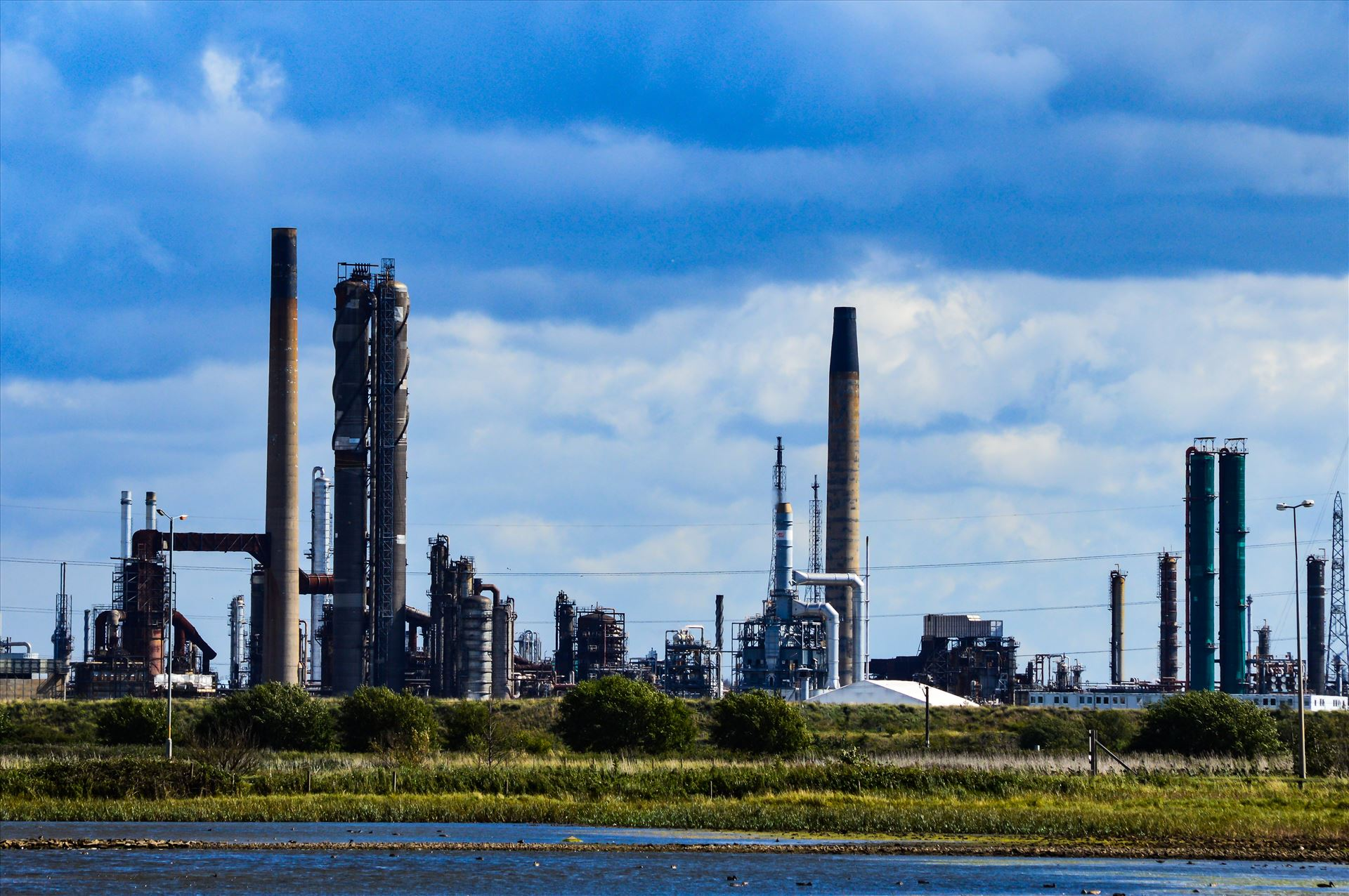 Chemical Works, Port Clarance - Looking out from a hide at RSPB Saltholme you see what surrounds the reserve by AJ Stoves Photography