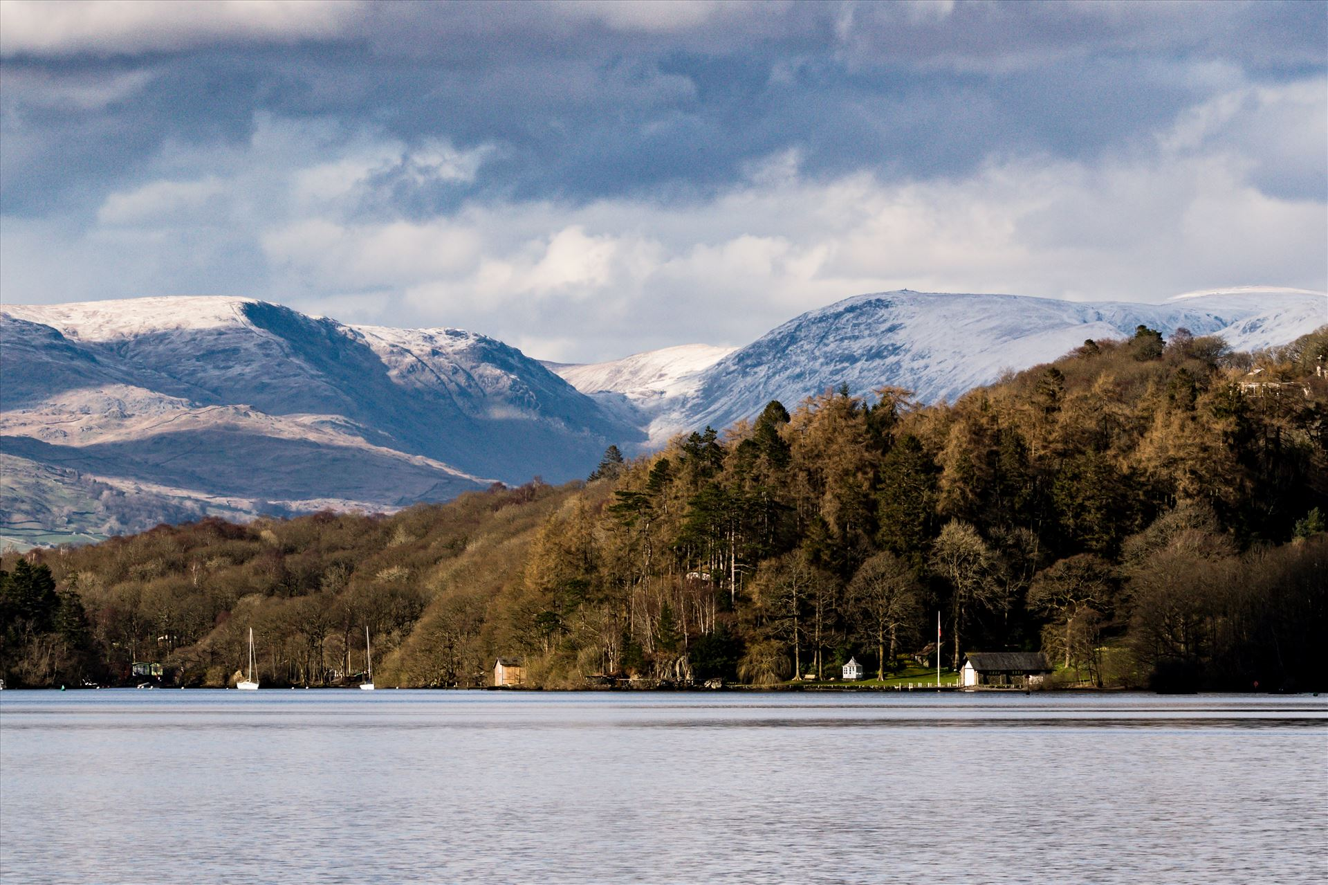 Lake Windermere Winters View - Taken from the south of the lake looking north, by AJ Stoves Photography
