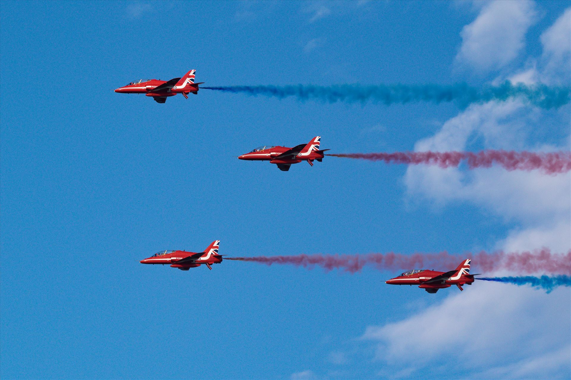 RAF Red Arrows Fly By - Taken in 2017 at Sunderland International Airshow by AJ Stoves Photography
