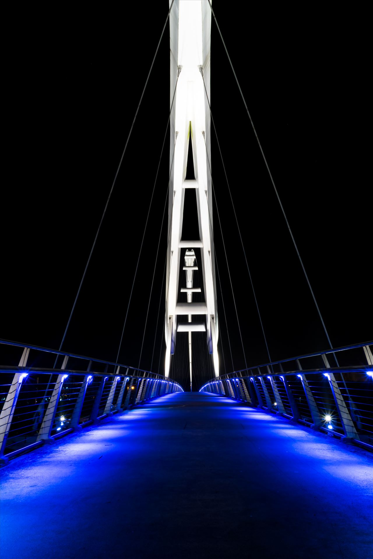Infinity Bridge at night Stockton on Tees - Infinity Bridge Stockton on Tees at night by AJ Stoves Photography
