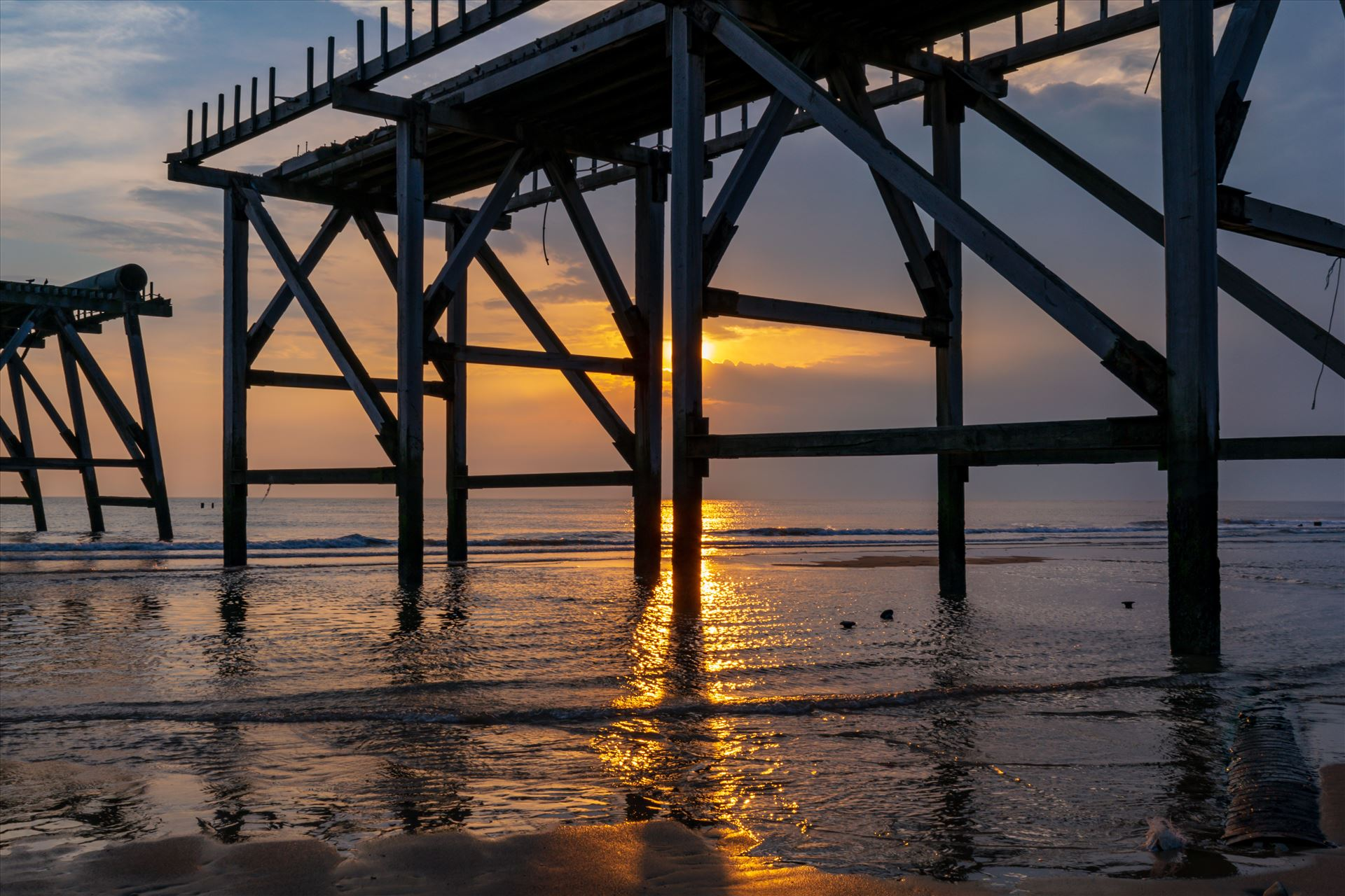 Sunrise Steetley Pier 1 - You have to be up early for a shot like this by AJ Stoves Photography