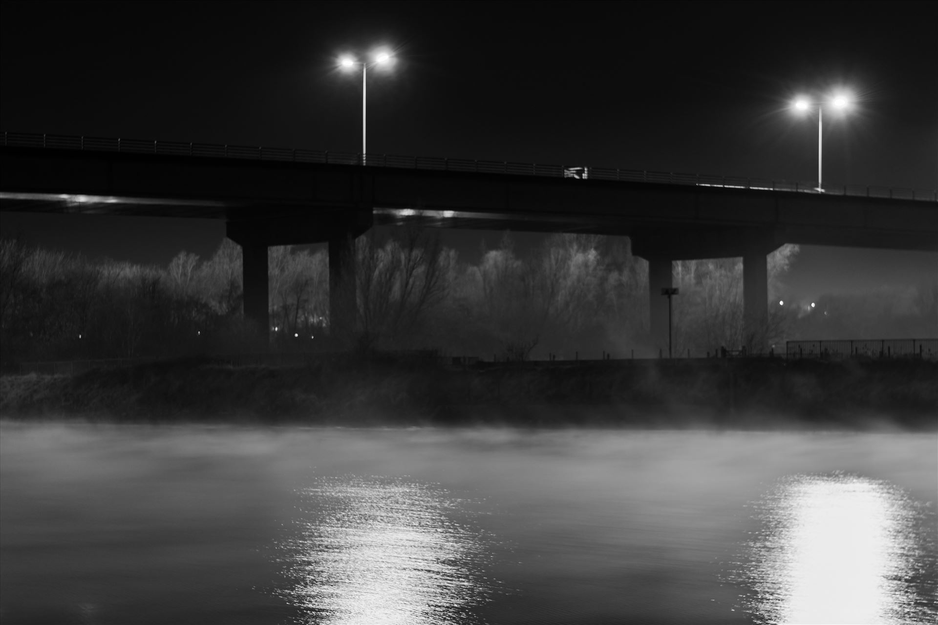 Misty River Tees - Taken on the banks of the river Tees on Boxing night, by AJ Stoves Photography