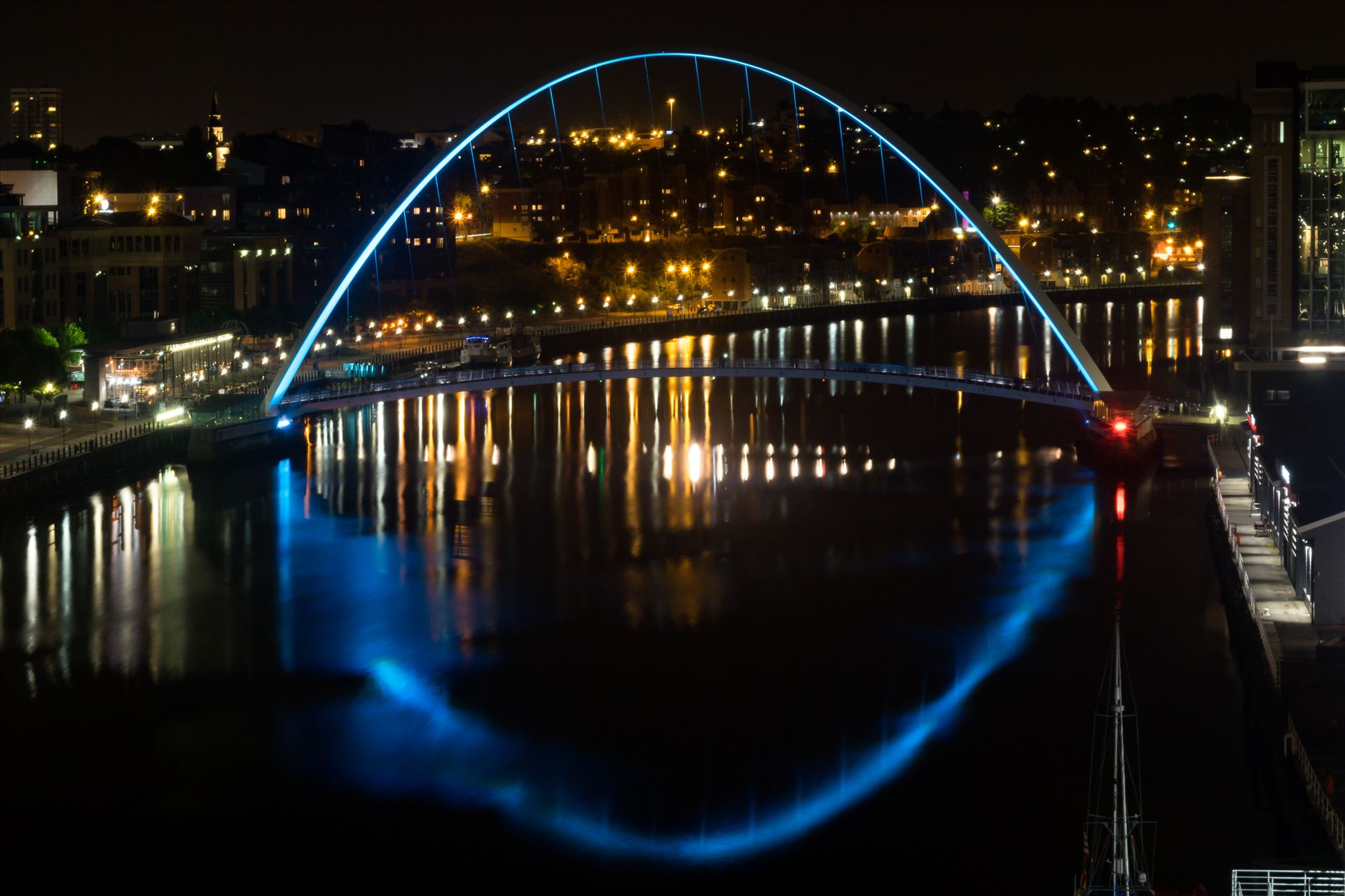 Millenium Bridge at night Newcastle - Take at Newcastle on a night shoot, the Millenium Bridge. by AJ Stoves Photography