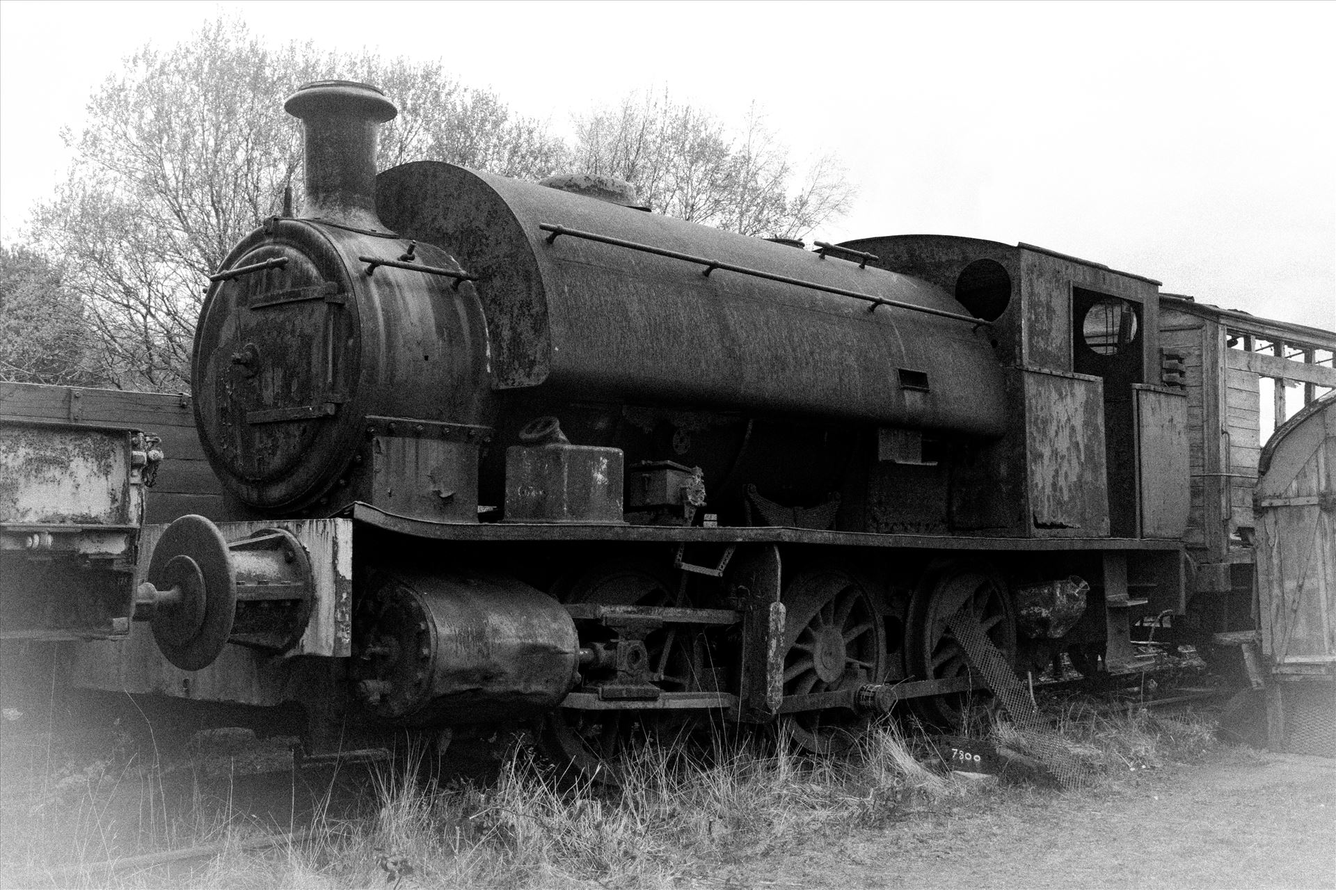 Old Steamer - An old steam train sat rusting away at Tanfield Railway by AJ Stoves Photography
