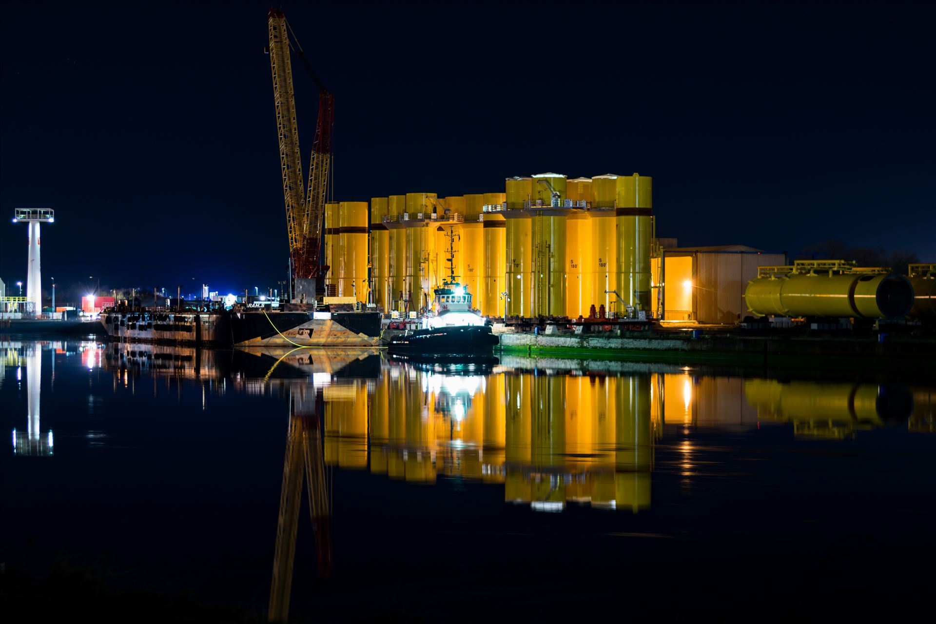 Yellow is the colour - Yellow reflections on the river Tees by AJ Stoves Photography