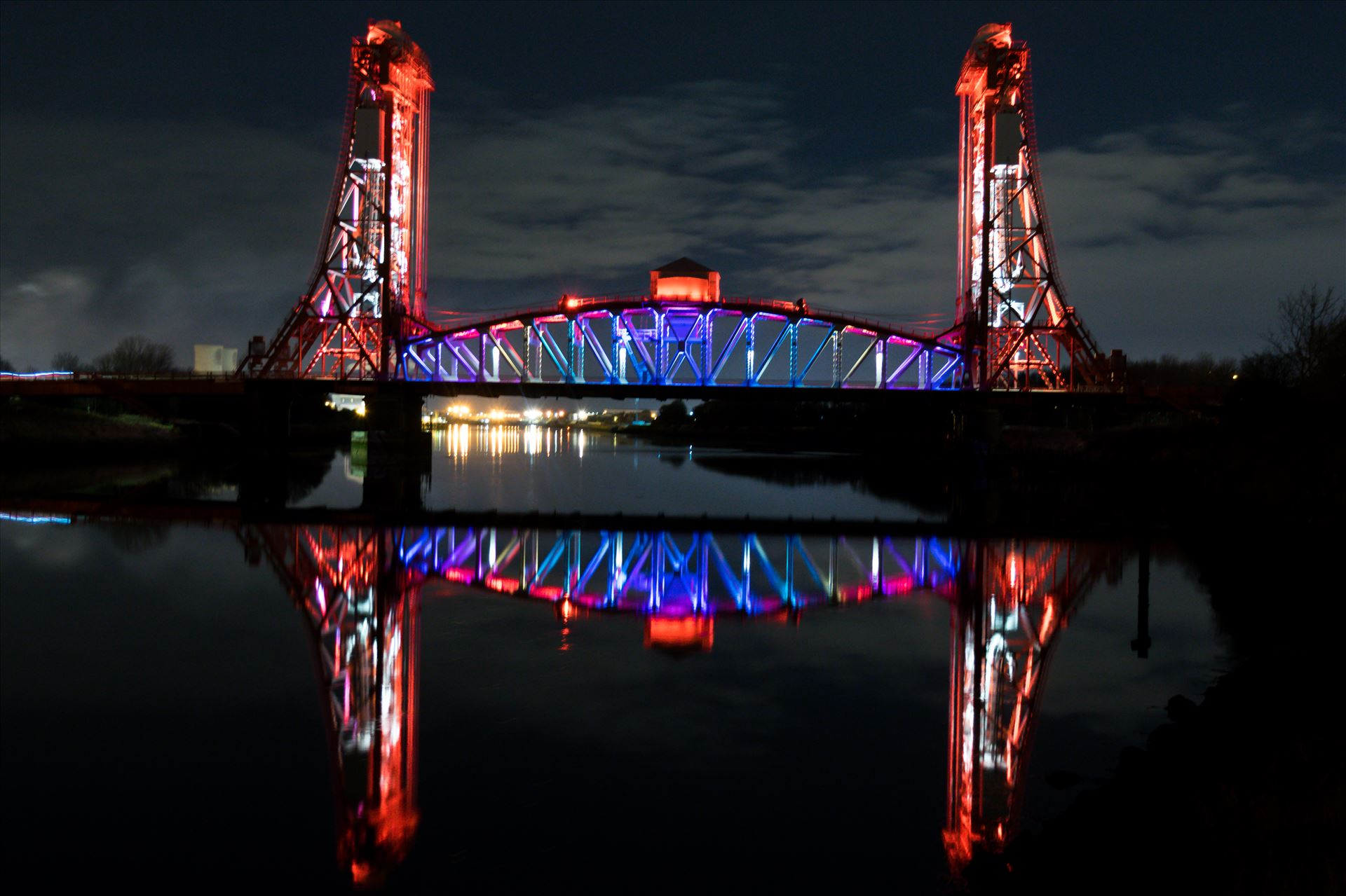 Newport Bridge Middlesbrough - Newport Bridge at night in all its glory by AJ Stoves Photography