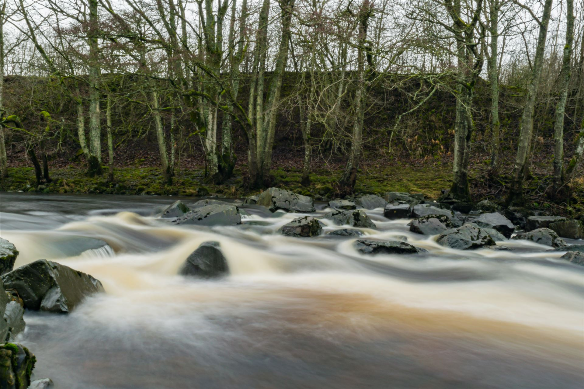 River in Full Flow - A river in full flow, taken with a ND filter and a 15 scoond exposure by AJ Stoves Photography