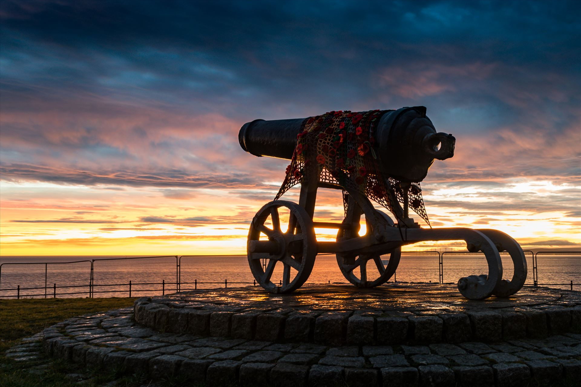 Cannon Sunrise - The Cannon at Hartlepool Headland at sunrise by AJ Stoves Photography