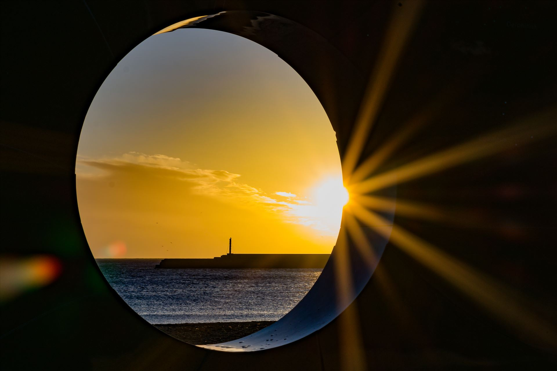 Roker Sunrise thought a whole - Roker at sunrise by AJ Stoves Photography