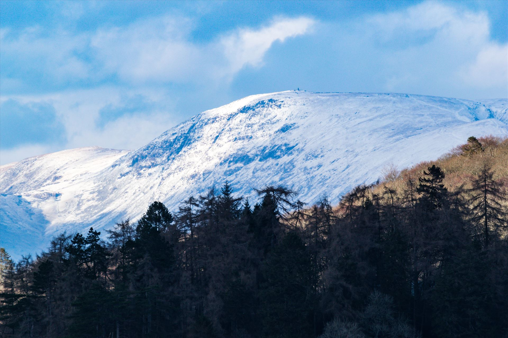 Lake Windermere Snowy Mountains - Taken from the south of the lake looking north, by AJ Stoves Photography