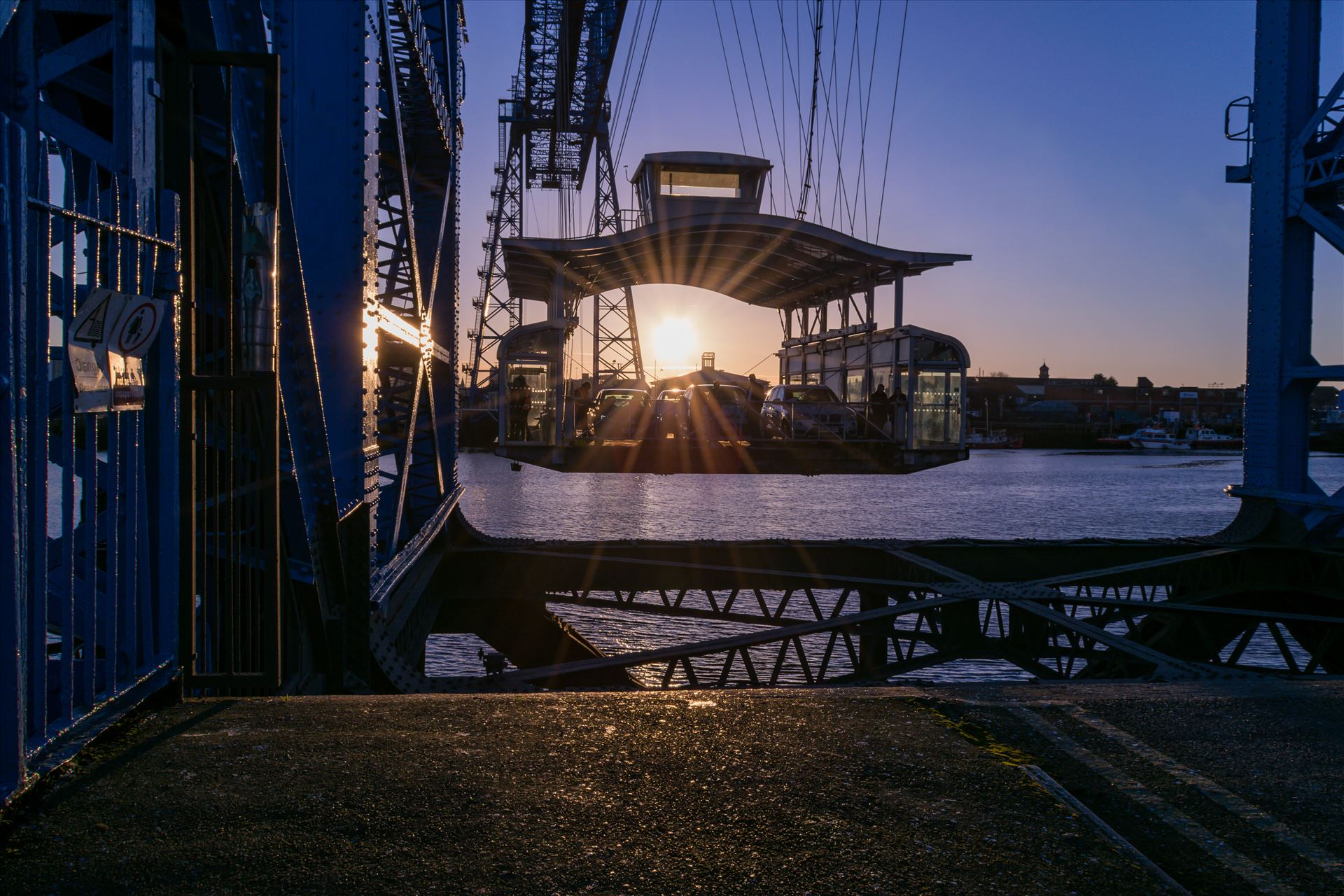 Transporter Bridge Port Clarence Sun Set - Taken on the 29/12/17 on a cold winters evening by AJ Stoves Photography