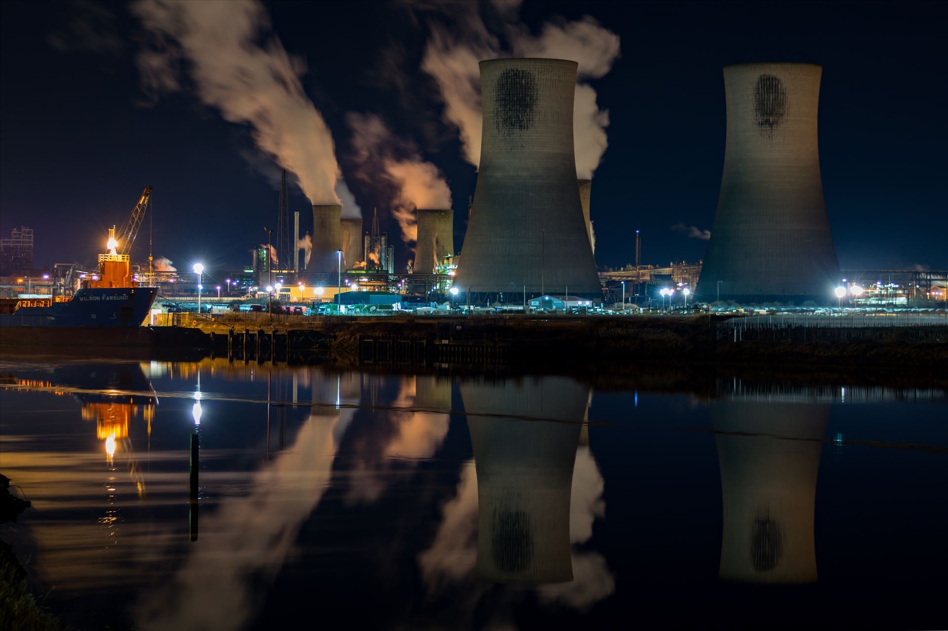 Industrial Reflections - Industrial Reflections on the River Tees by AJ Stoves Photography