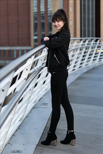 Rachel Louise Adie modelling shoot at Newcastle Quayside