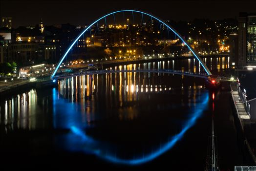 Take at Newcastle on a night shoot, the Millenium Bridge.