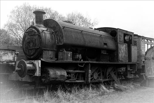An old steam train sat rusting away at Tanfield Railway