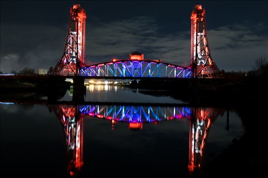 Newport Bridge at night in all its glory