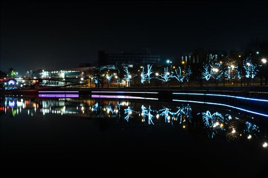 Preview of Stockton riverside at night