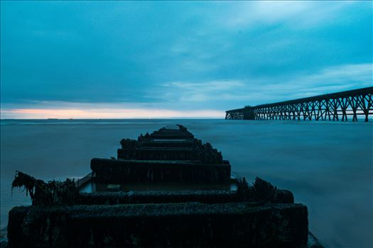 Steetley Pier Hartlepool - A shot of Steetley Peir at Hartlepool Headland on a cold and wet July evening