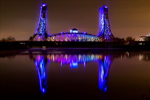 Taken boxing night down by the river Tees, Newport bridge with the reflection looked amazing